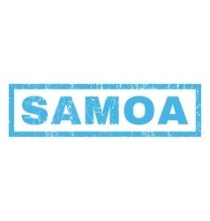 Samoa rubber stamp vector