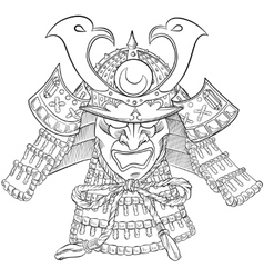 Samurai japan mask vector
