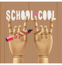 School is cool vector image vector image