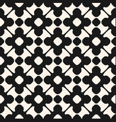 seamless pattern monochrome floral ornament vector image