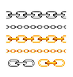 set of different seamless chains on white vector image