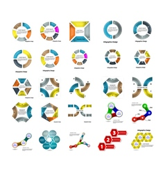 Set of infographic business presentation template vector image