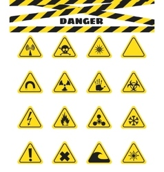 Signs warning of the danger from explosives and vector