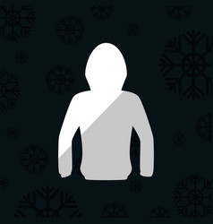 Snowboarding jacket and winter sports vector