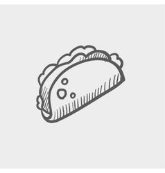 Taco sketch icon vector image
