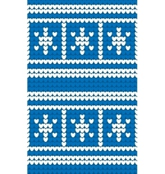 Winter seamless knitting pattern vector