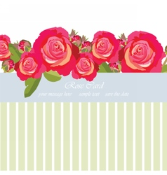 Watercolor delicate roses card vector