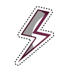 Ray energy isolated icon vector