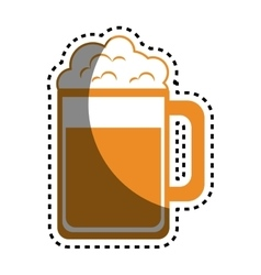 Beer glass drink icon vector