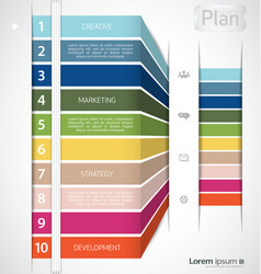 colorful infographic clean template vector image