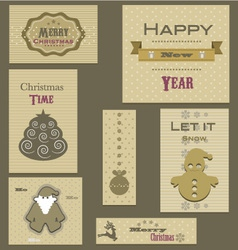 Christmas-stickers vector