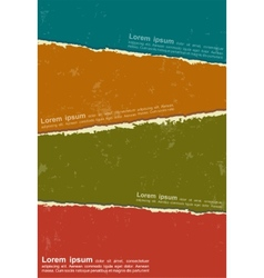 Design colorful torn papers vector