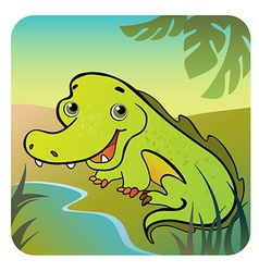 Friendly crocodile vector