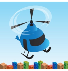Helicopter cartoon vector