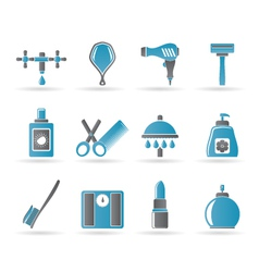 personal care and cosmetics icons vector image