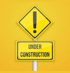 Website under construction road sign coming soon vector