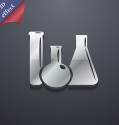 Laboratory glass chemistry icon symbol 3d style vector