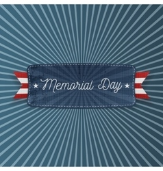 Memorial day patriotic banner with text vector