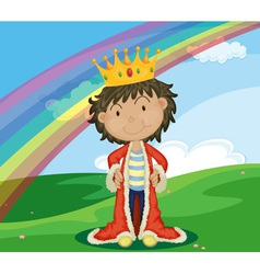 King in field vector image