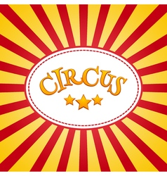 Classic circus poster design template Circus vector image