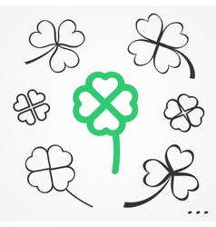 Clovers set vector