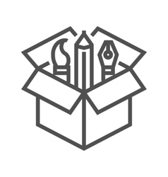 Creative package icon vector image