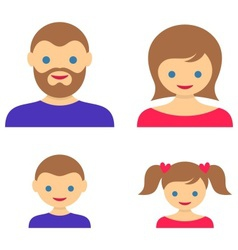 Family member icons vector image