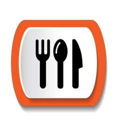 Fork Knife And Spoon Icon vector image vector image