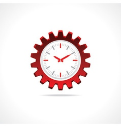 Gear clock icon vector image