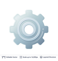 gear icon isolated on white vector image