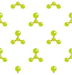 Green molecule structure dna pattern flat vector