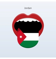 Jordan language Abstract human tongue vector image
