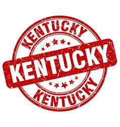 Kentucky red grunge round vintage rubber stamp vector