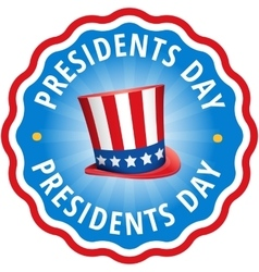 Label sticker Congratulations USA presidents day vector image
