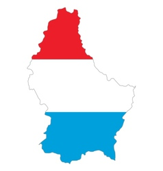 Map and flag of Luxembourg vector image vector image