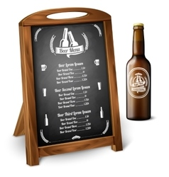 Menu template on chalkboard - for alcohol with vector