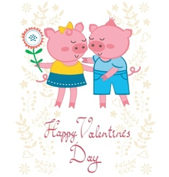 Pigs in love vector image vector image