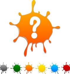 Question blot vector