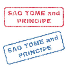 Sao tome and principe textile stamps vector