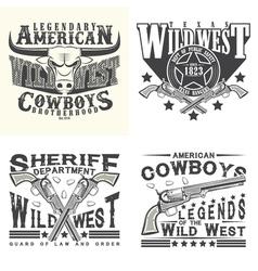 set of tee shirt print designs vector image