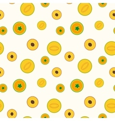 Simple fruits pattern - seamless vector image