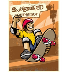 skateboard competition poster vector image