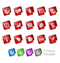 Social Media Stickers vector image