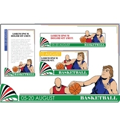 Summer kinds of sports Basketball vector image vector image