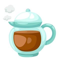 Teapot of tea vector image vector image