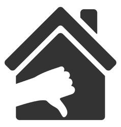 Terrible house flat icon vector