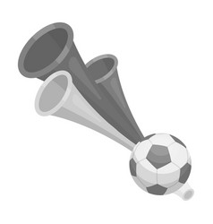 trumpet football fanfans single icon in vector image
