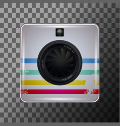 vintage photo camera vector image
