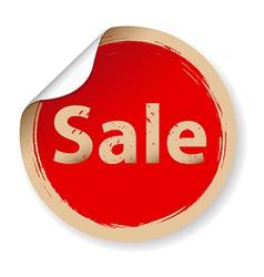Vintage Red Label Sale vector image vector image