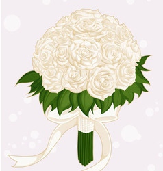 Wedding Flower Bouquet vector image vector image